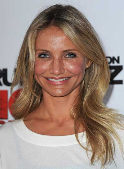 Cameron Diaz Long, Layered, Tousled, Blonde Hairstyle