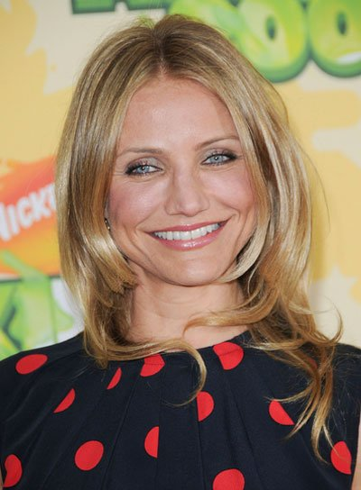 Cameron Diaz Medium, Layered, Blonde Hairstyle