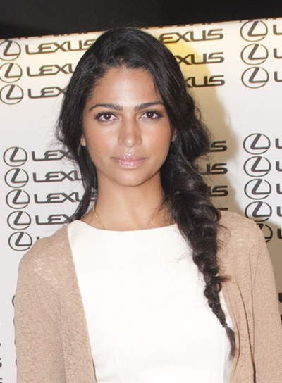 Camilla Alves Long, Black, Chic Hairstyle with Braids and Twists