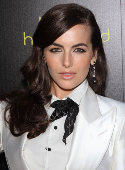 Camilla Belle Long, Curly, Brunette Hairstyle