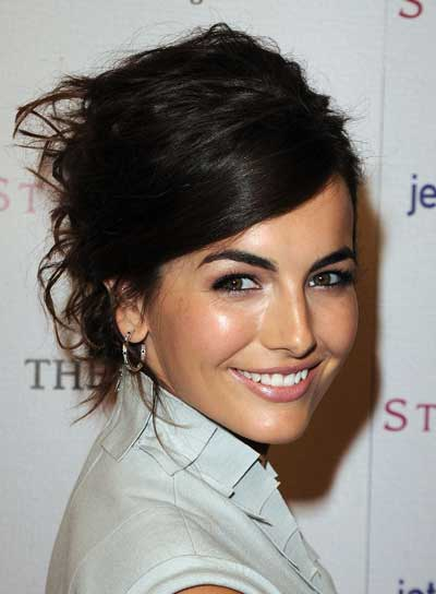 Camilla Belle Sexy, Curly, Brunette, Prom Updo