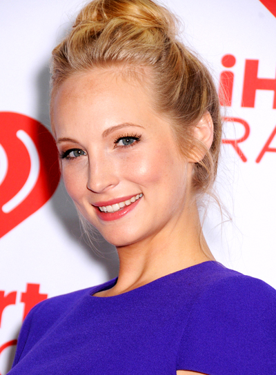 Candice Accola's Blonde, Sophisticated, Chic, Updo Hairstyle