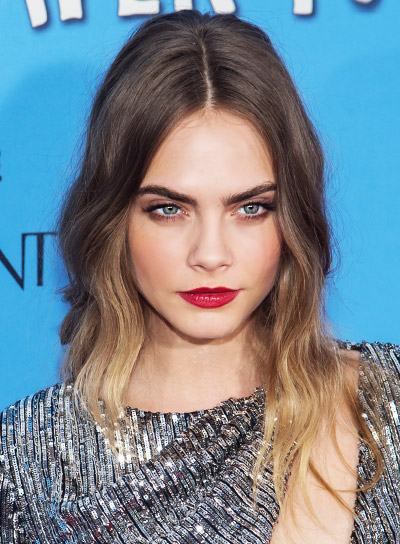 Cara Delevingne's Long, Blonde, Romantic, Wavy Hairstyle