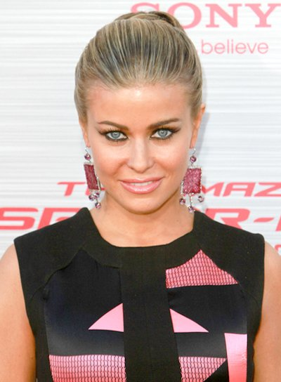 Carmen Electra's Chic, Blonde, Updo, Ponytail Hairstyle