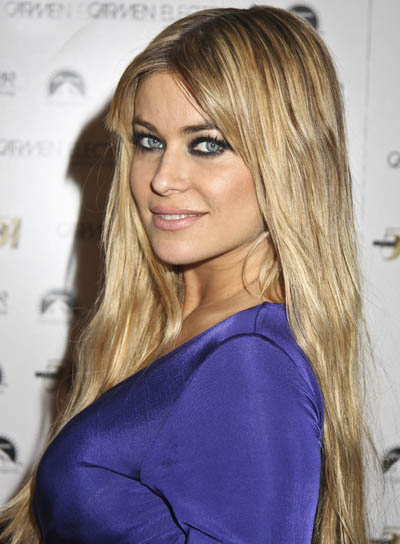 Carmen Electra Long, Blonde Hairstyle