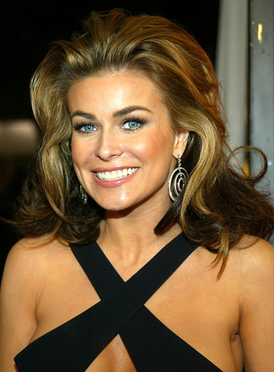 Carmen Electra Formal, Thick, Straight Hairstyle