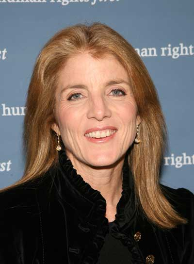 Caroline Kennedy Medium, Straight, Blonde Hairstyle