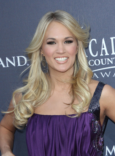 Carrie Underwood Long, Curly, Blonde Hairstyle