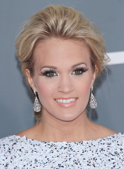 Carrie Underwood Chic, Romantic, Tousled, Sophisticated, Blonde, Party Updo