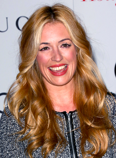 Cat Deeley's Long, Curly, Blonde, Romantic Hairstyle