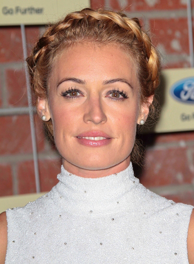 Cat Deeley's Blonde, Romantic, Updo Hairstyle with Braids and Twists