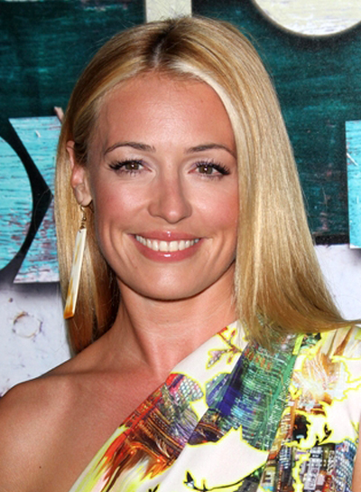 Cat Deeley's Long, Blonde, Straight, Sophisticated Hairstyle
