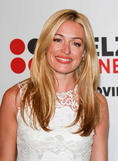 Cat Deeley Long, Straight, Layered, Blonde Hairstyle