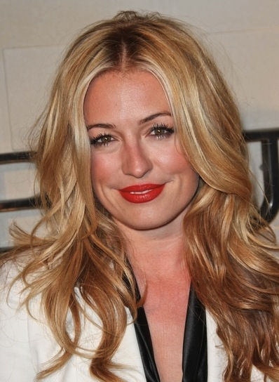 Cat Deeley Long, Wavy, Sexy, Tousled, Blonde Hairstyle