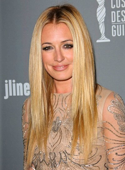 Cat Deeley's Long, Straight, Blonde, Chic Hairstyle