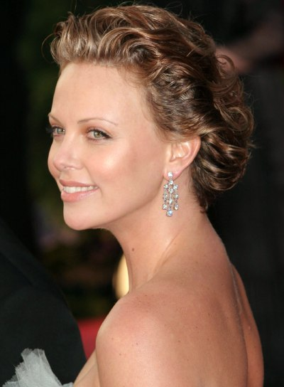 Charlize Theron's Curly, Romantic Updo
