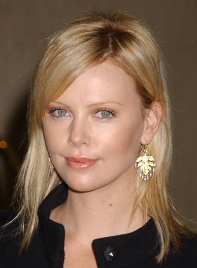 Charlize Theron's Medium, Straight Hairstyle