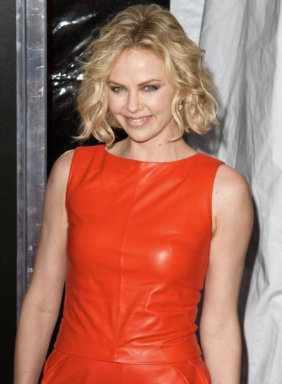 Charlize Theron's Short, Curly, Tousled, Sexy, Blonde Bob