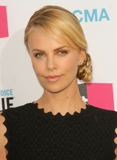 Charlize Theron's Chic, Sophisticated, Blonde, Formal Updo with Braids and Twists