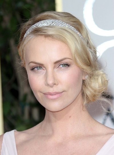 Charlize Theron's Sophisticated, Romantic, Curly, Blonde Updo