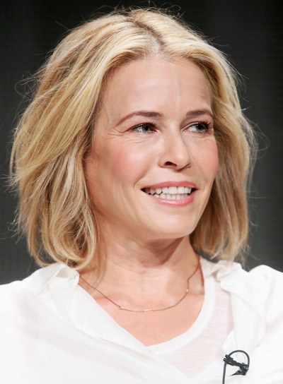 Chelsea Handler's Short, Blonde, Wavy, Tousled Hairstyle