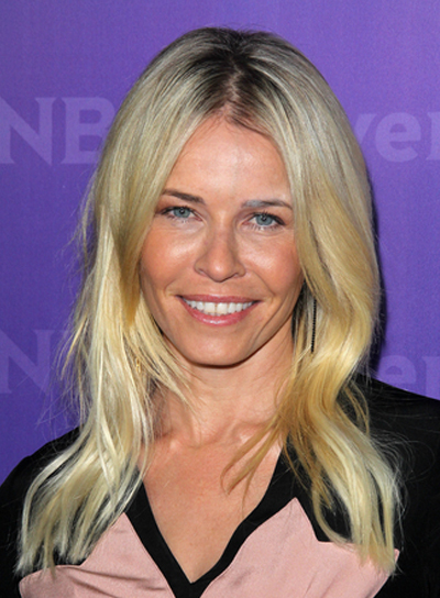 Chelsea Handler Long, Layered, Blonde Hairstyle