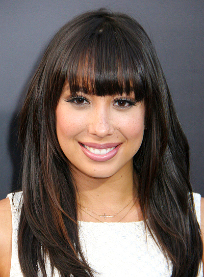 Cheryl Burke's Long, Brunette, Chic Hairstyle with Bangs