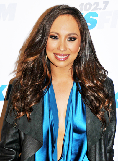 Cheryl Burke's Long, Wavy, Brunette, Party Hairstyle