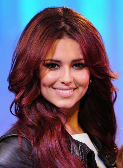 Cheryl Cole Long, Wavy, Sexy, Red Hairstyle