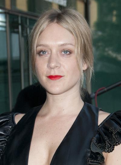 Chloe Sevigny Medium, Blonde, Updo Hairstyle