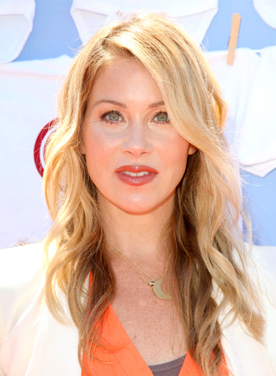 Christina Applegate's Romantic, Blonde, Wavy, Tousled Hairstyle