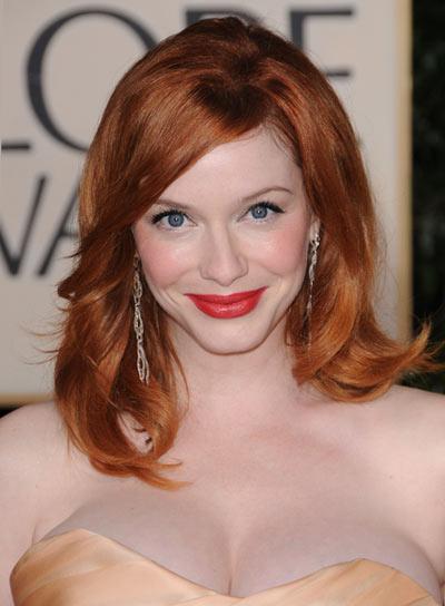 Christina Hendricks Romantic, Red Hairstyle
