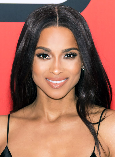 Ciara with a Long, Wavy, Black, Romantic Hairstyle Pictures