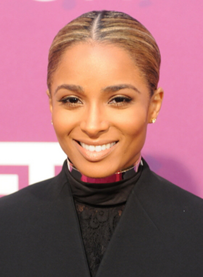 Ciara's Chic, Sophisticated, Updo, Hairstyle with Highlights
