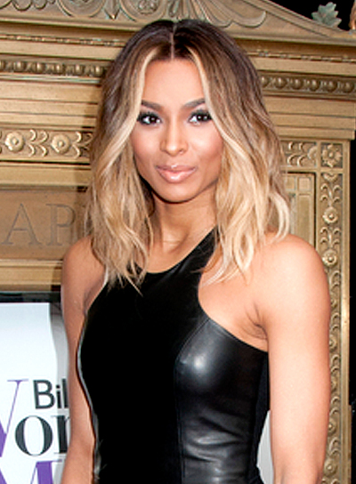 Ciara's Medium, Wavy, Funky, Romantic Hairstyle
