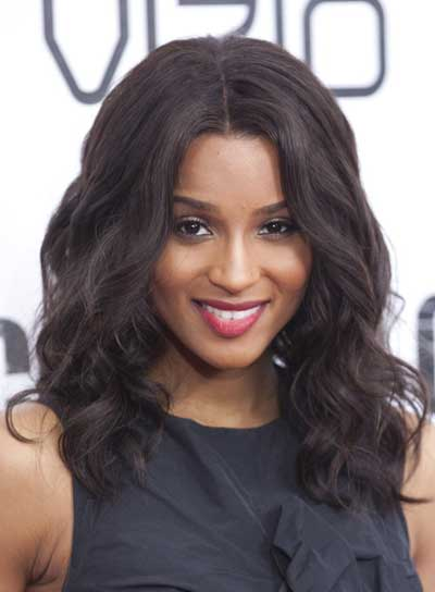 Ciara Wavy, Romantic, Black Hairstyle