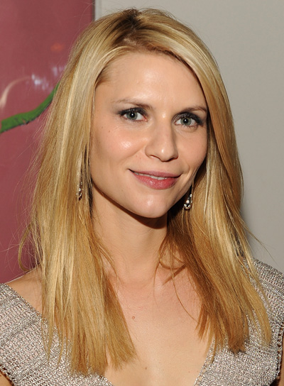 Claire Danes Straight, Blunt, Blonde Hairstyle