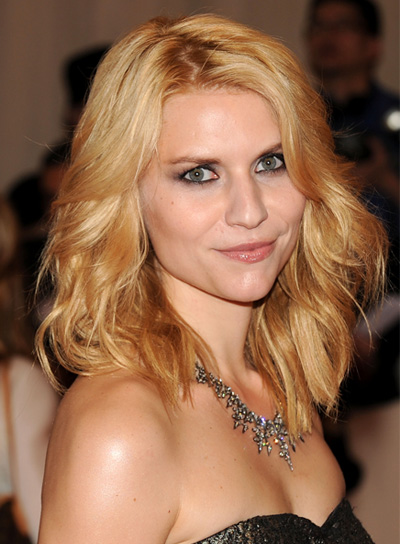 Claire Danes Blonde, Tousled, Edgy Hairstyle