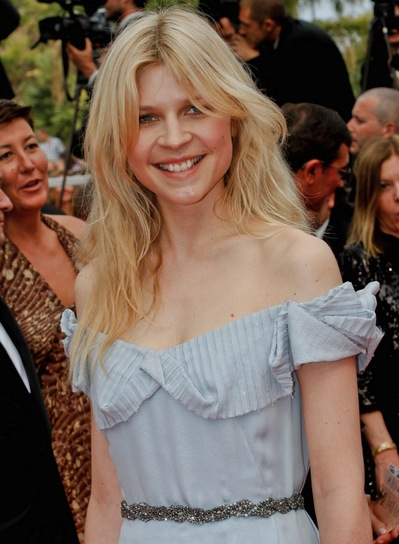 Clemence Poesy Long, Sexy, Tousled, Blonde Hairstyle