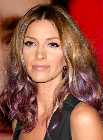 Dawn Olivieri's Blonde, Tousled, Curly, Party Hairstyle