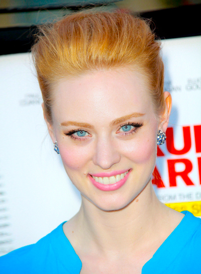 Deborah Ann Woll's Sophisticated, Chic, Red, Updo Hairstyle
