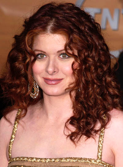 Debra Messing Long, Curly, Red Hairstyle