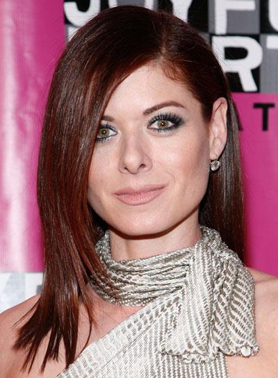 Debra Messing Medium, Straight, Red Hairstyle