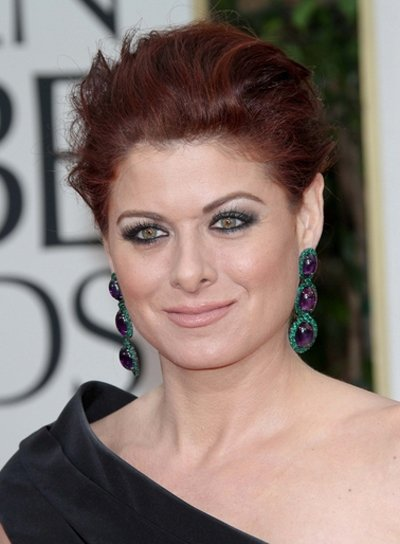Debra Messing Sexy, Tousled, Red Updo