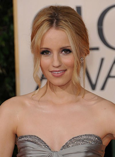 Dianna Agron Blonde, Prom Updo