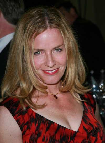 Elisabeth Shue Medium, Straight, Layered, Sophisticated, Blonde Hairstyle