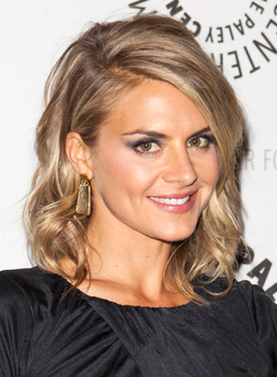 Eliza Coupe's Medium, Wavy, Party, Blonde, Hairstyle