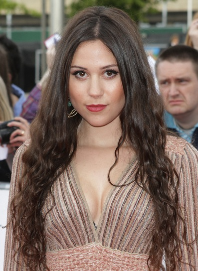 Eliza Doolittle Long, Wavy, Chic, Brunette Hairstyle