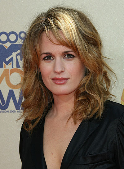 Elizabeth Reaser Medium, Curly, Blonde Hairstyle with Bangs
