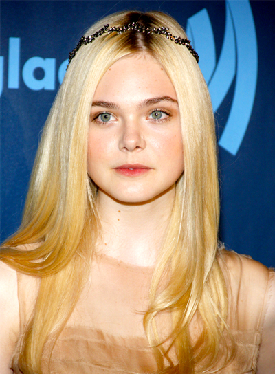 Elle Fanning's Long, Blonde, Romantic, Party Hairstyle